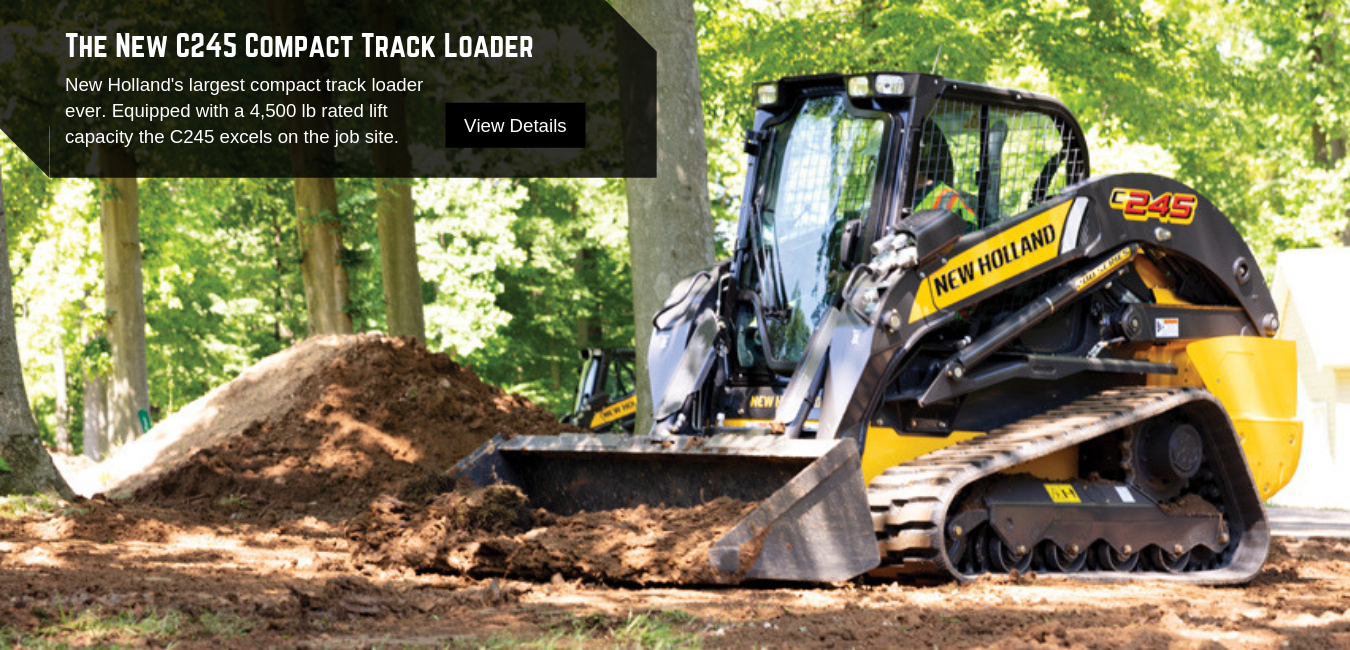 New Holland C245 Compact Track Loader available at Pat Kelly Equipment Co.
