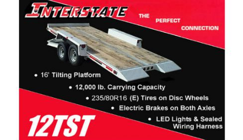 Interstate Trailers 12TST » Pat Kelly Equipment Co., Missouri on trailer brakes, trailer generator, trailer fuses, trailer mounting brackets, trailer hitch harness, trailer plugs,